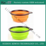 Pot van de Was van het Silicone van de Rang van het voedsel de Rubber Vouwbare