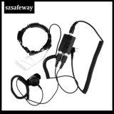 Kenwood Tk3160、Tk3170のための軍の喉のマイクロフォンのヘッドセット