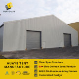 Grande tente en aluminium d'entrepôt avec la porte d'obturateur de rouleau (HAF 20M)