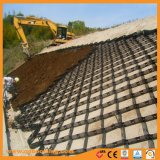 La pared del canal alto de la construcción de carretera Camino Geocell