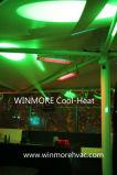 Comando de aquecimento por infravermelhos Bluetooth 1500W para aquecedores de oficina