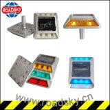 Segurança Rodoviária Aviso Visível Vermelho Aviso Solar Deck Dock Pathway Light