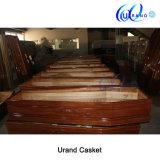 Wholesale European Style with Satin Interior Wooden Coffin