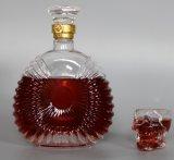 De unieke Gevormde Duidelijke Fles van de Wijn van het Glas