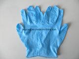 De beschikbare Blauwe Handschoenen van het Nitril voor KUUROORD en Tatoegering