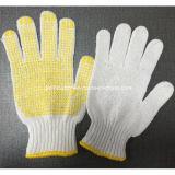 7 связанная датчиками перчатка работы безопасности хлопка поставленная точки PVC
