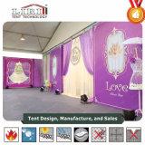 Белая таможня ткани PVC шатер случая Roment шатра 6 x 3 Maruqee с украшением