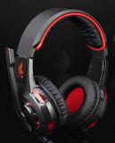 Receptor de cabeza estéreo del juego del alto grado del auricular profesional de la PC