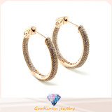 Grande Pentagram Shape e Hot Selling 925 Silver Jewelry Rosa Gold Plated Earring E6700
