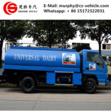 Forland 4X2のミルクの輸送のトラックのステンレス鋼のミルクのトラック6m3のミルク冷却タンクトラック
