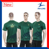 T-shirts juniors d'impression de transfert thermique de vêtements de sport de modèle de mode de Healong à vendre