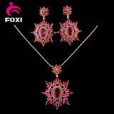Juwelen Costum van het Zirkoon van China CZ de Vastgestelde Nieuwe Robijnrode