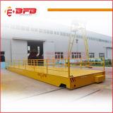 Carretilla plana ferroviaria motorizada accionada barra de distribución de la industria de la fundición en los carriles