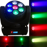 Luz principal móvil de la colada de la viga de RGBW 4in1 7X12W LED