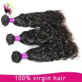 Extensões naturais humanas brasileiras do cabelo da onda da classe 7A popular