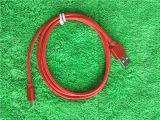 Câble de caractéristiques en aluminium de synchro de chargeur du micro USB de couleur rouge pour Andrews