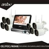 cámaras de seguridad del CCTV del kit del IP NVR del IR WiFi del arsenal del punto negro 1.3MP para el hogar