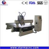 Double tête CNC Router ATC pour la gravure de porte en bois Meubles mortaisage machine CNC de coupe