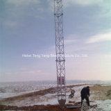 Galvanizado de 30m de la antena de telecomunicaciones de la torre del mástil de Guy