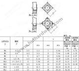 스테인리스 사각 용접 견과 DIN928
