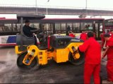 Уплотнения ролика 4 тонн двойной барабан Вибрационный дорожный дороги ролик