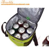 Quadrada 8 latas saco térmico com alça de ombro e alça superior