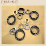 occhiello d'ottone del metallo rotondo di 12mm con il Rhinestone di cristallo