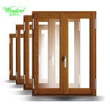 Double vitrage fenêtre en plastique de la peau en bois de l'impression