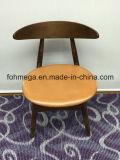 Présidence à extrémité élevé de café en bois solide avec le capitonnage en cuir (FOH-BCC37)