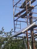 proyecto del híbrido del molino de viento horizontal 2kw y de la célula solar