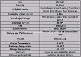 Batería sin necesidad de mantenimiento de la batería 12V150ah LiFePO4 de la potencia