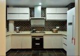 Gabinete de cozinha lustroso elevado branco personalizado Yb1709106 do projeto 2017 moderno