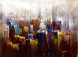 Pitture a olio Handmade della tela di canapa di paesaggio urbano per la decorazione dell'ufficio