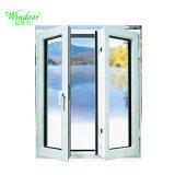 Het witte Openslaand raam van het Aluminium van de Onderbreking van de Kleur Thermische