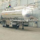 ステンレス鋼の半アルミニウム鋼鉄物質的な任意選択燃料ガソリンディーゼルタンカーのトレーラー