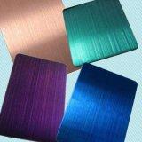 304 201 316 en acier inoxydable finition feuille couleur avec le Trait Fin pour la décoration