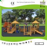 Sistema de madeira ao ar livre de tamanho médio do campo de jogos de Kaiqi (KQ10156A)