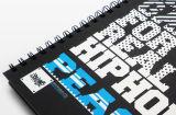 ワイヤーO装丁本の印刷のハードカバー本の印刷