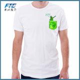 カスタム綿の方法によって印刷される綿のTシャツの円形の首