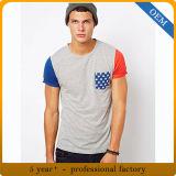 Nuova maglietta del cotone di stile 100 degli uomini su ordinazione