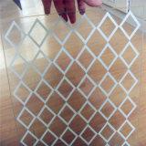 2mm Blanc en verre trempé avec le bord plat poli