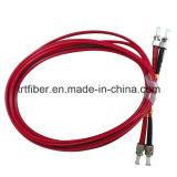 ST/PC cabos frente e verso Multimode da correção de programa da fibra de ST/PC aos 62.5/125