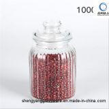 Recipiente de alimento de vidro do frasco do armazenamento do Sell quente com Kitchenware de vidro da tampa