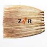 Extensão brasileira desenhada dobro do cabelo humano da ponta da vara do cabelo da cor do piano