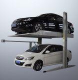 2 подъема стоянкы автомобилей автомобиля цилиндров и цепей столба