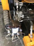 La bomba de hormigón de gasóleo con mesa de mezclas en un equipo de venta