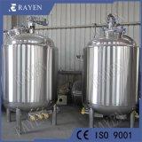 SUS304 o 316L depósito de mezcla de líquidos la calefacción eléctrica depósito mezclador