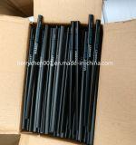 黒い消す物、空052が付いている7インチの三角形の形の黒の木製の黒い鉛筆