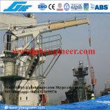 Grue télescopique 15t de piédestal marin hydraulique électrique