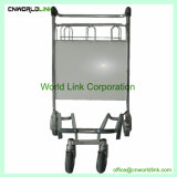 Carrinho de envio de mão de aço inoxidável carrinhos de avião para passageiros